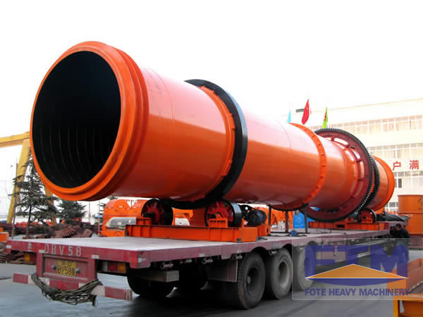 Rotary drum dryer shipment